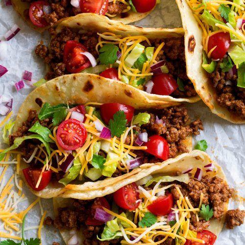 Black Bean Tacos With Avocado Cilantro Lime Crema Cooking Classy Ground Beef Tacos Taco Recipes Ground Beef Cooking Classy