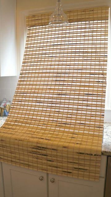 First House Living: DIY Tutorial: Shortening Bamboo Roman Shades
