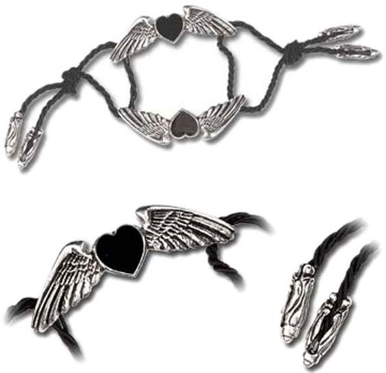 Coeur Noir Bracelet