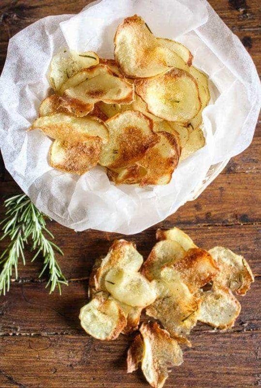 12 Of The Crispiest Homemade Potato Chip Recipe Ideas Potato Chip Recipes Baked Potato Chips Baked Potato Chip Recipe