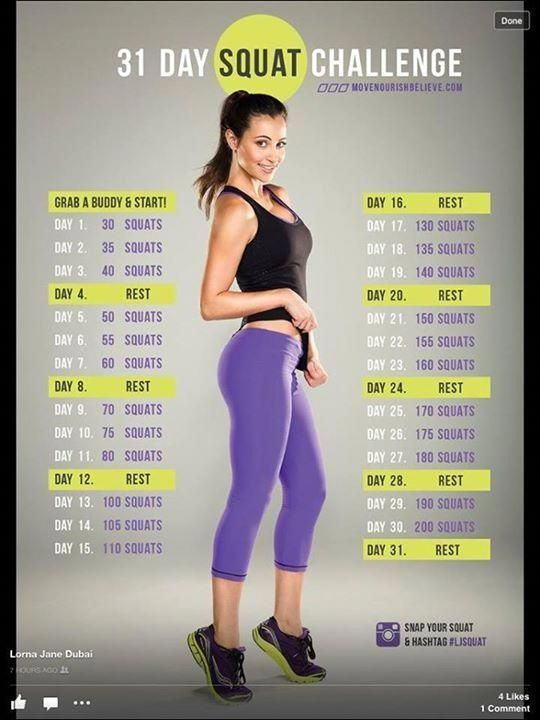 Squats. My legs are sore and it takes a chunk of time but it is a good  challenge #SquatsSquatsAndSquats | 30 day squat challenge, Squat challenge,  Easy workouts