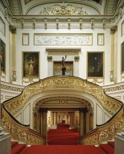 Buckingham Palace.  I just picture Cinderella running down these stairs with only one shoe.