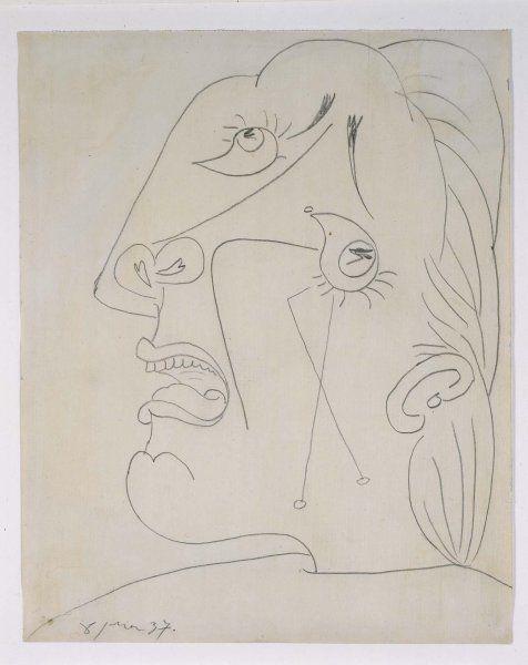 Cabeza llorando (IV). Postscripto de «Guernica»