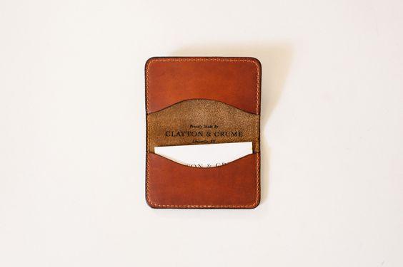 Brown/Cognac Card Wallet — Clayton & Crume