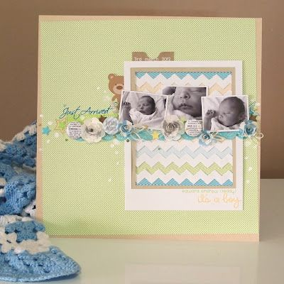 Baby Boy Layout by Melinda Spinks/The Scrap Farm
