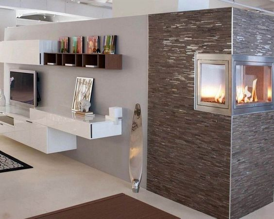 Chimney Living Room Wall Cladding Tiles Without Chimney