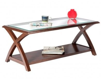 Cross Design Brown Coffee Table - Build Your New Home - Get Inspired
