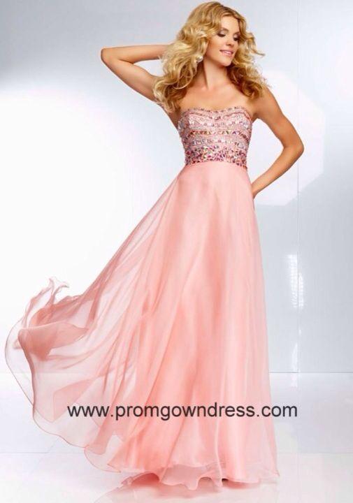 Flowy Pink Prom Dress - Everything Prom - Pinterest - Prom dresses ...