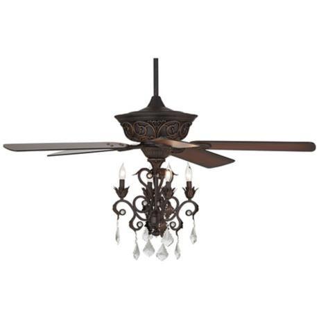 52 casa contessa dark bronze chandelier ceiling fan bronze ceiling fan