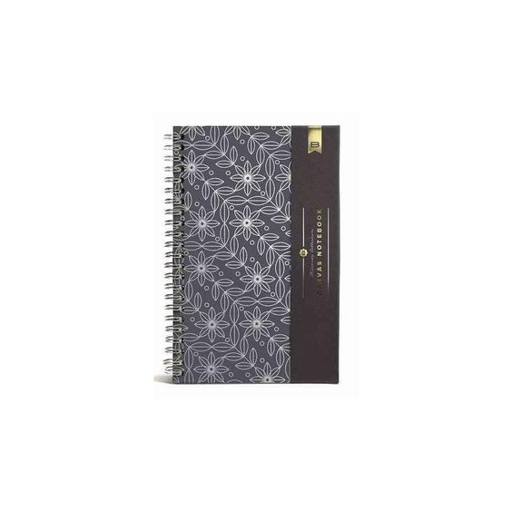 Floral Pattern Medium Canvas Ruled Noteb (Notebook / blank book)