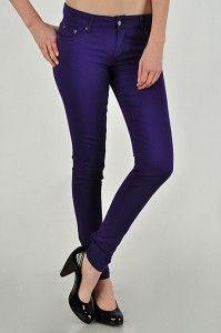 Purple skinny jeans! Purple!