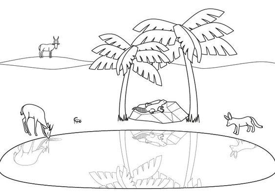 dibujos para colorear el desierto  Buscar con Google  EL