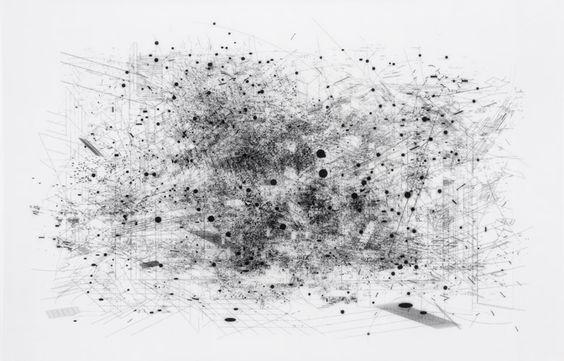 """Landscape 5.1 2005, plastic iron oxide on mylar, 12 x 18.5"""""""