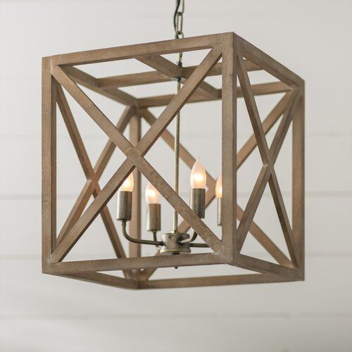 William 4 Light Square Rectangle Pendant Rustic Pendant Lighting Rectangle Chandelier Lantern Lights