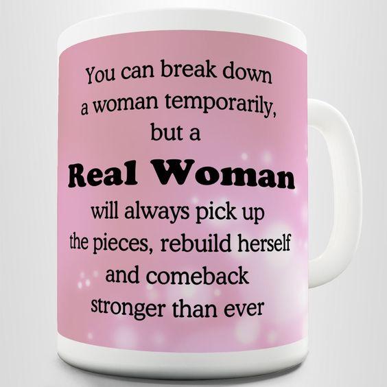 REAL WOMAN Coffee Gift Mug: Amazon.co.uk: Kitchen & Home