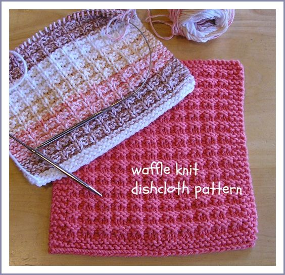 Knitting Dishcloths Easy : Been there done that waffle knit dishcloth pattern