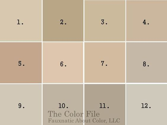 Tan Paint Color With Gray Undertones