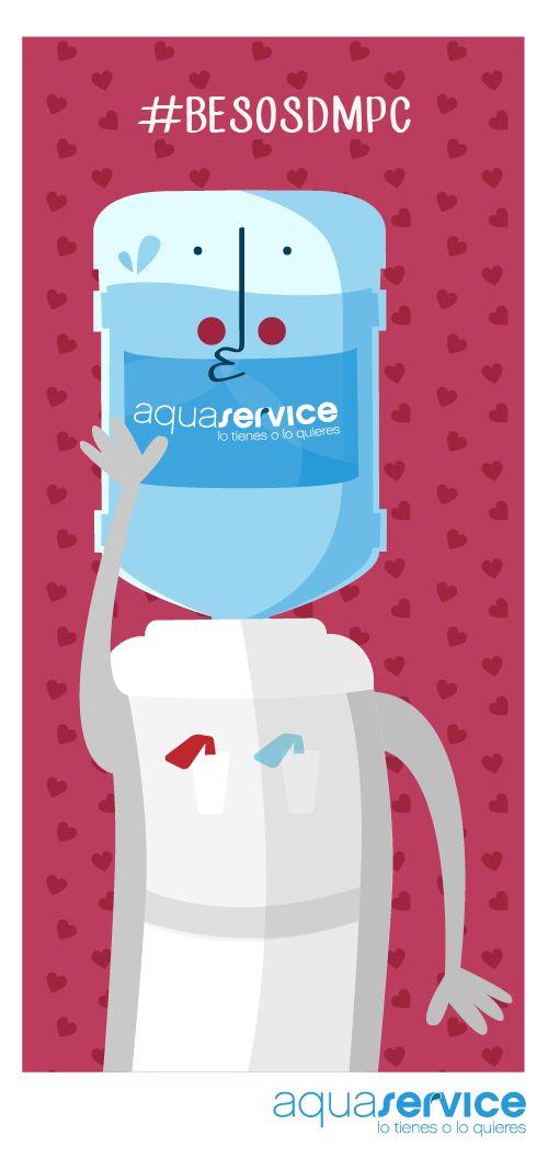 Este es el beso con el que desde Aquaservice nos sumamos a la campaña de Aspace y Avapace en el Día Mundial la Parálisis Cerebral. Comparte y publica tu beso con #BesosDMPC para mostrarles tu apoyo. #dispensador