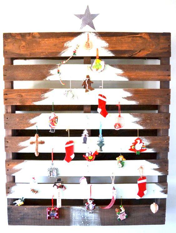 Pallet kerstboom kamer 26 pallets pinterest - Sapin de noel en bois de palette ...