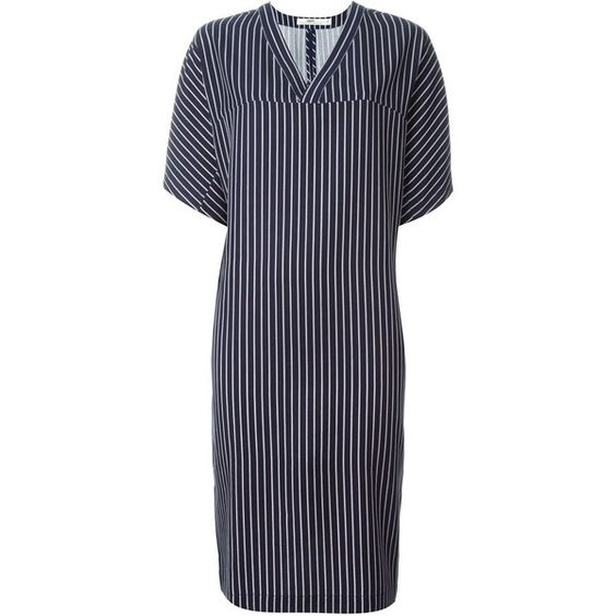 Hope Striped Shift Dress ($213) ❤ liked on Polyvore featuring dresses, blue, shift dress, stripe shift dress, striped dress, hope dresses and blue striped dress