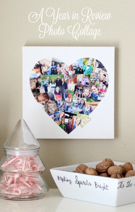 Canvas Photo Heart Collage