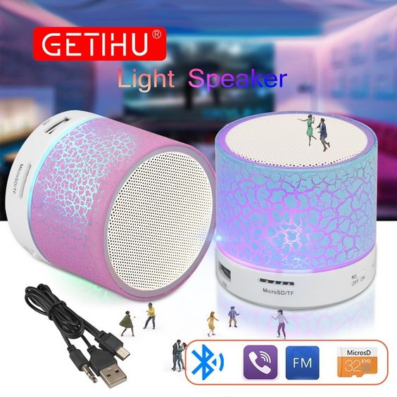 Alphamerchnet Comgetihu Portable Mini Bluetooth Speakers Wireless Hands Free Led Speaker With Tf Usb Fm Sound Music For Mobile Phone For Iphone 6 Mini Bluetooth Speaker Portable Bluetooth Speakers Minis Bluetooth Speakers