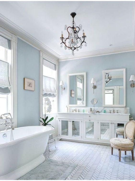 34 luxury white master bathroom ideas pictures chevron for White house master bathroom