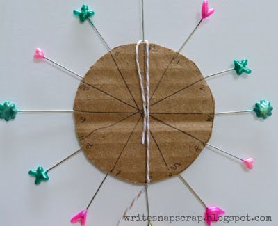 Write Snap Scrap: Tutorial: How To Make A Looped Twine Flower