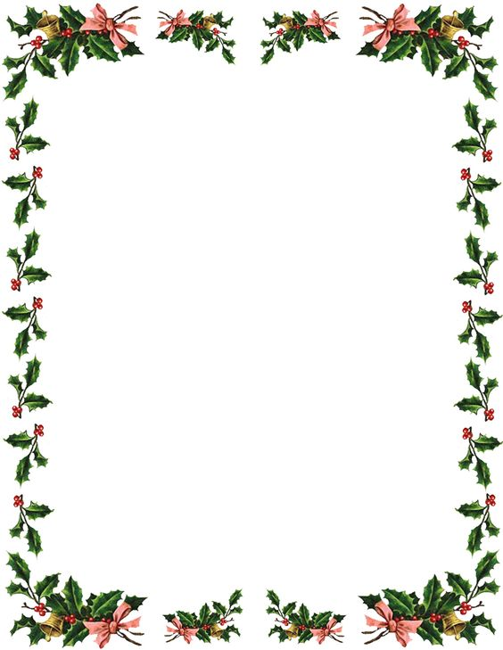 Clip Art Free Christmas Borders Clipart holly border anything christmas pinterest clip art best border