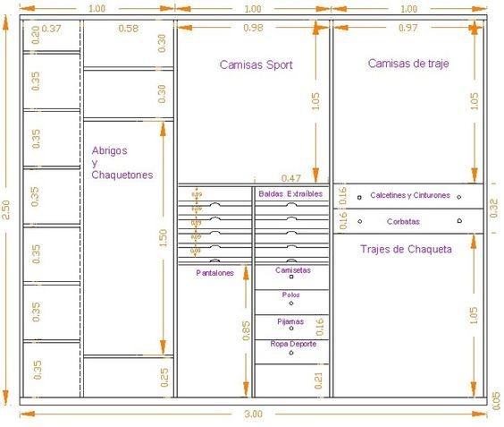 Medidas para cajones en closets buscar con google arc for Medidas de zapateras