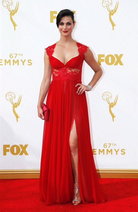 Actress Morena Baccarin arrives at the 67th Primetime Emmy Awards in Los Angeles, California September 20, 2015.