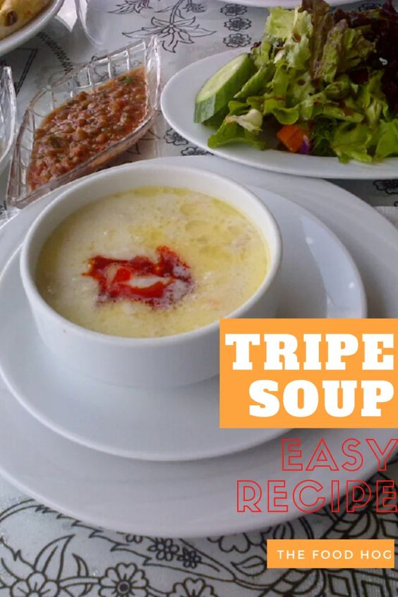tripe soup recipe shkembe chorba