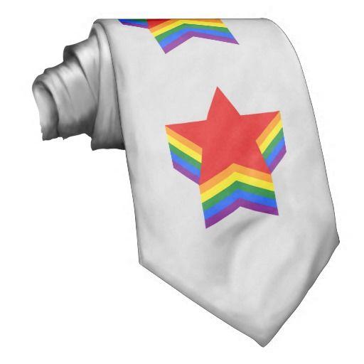 Rainbow pride stars Tie