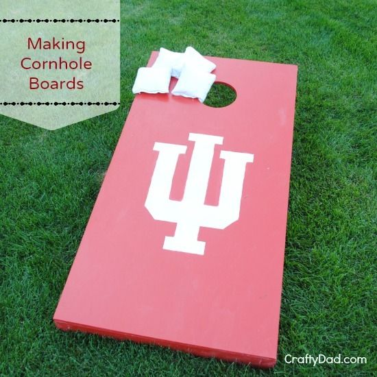 Easy weekend project just in time for tailgating season. DIY PROJECT :: Making a Set of Cornhole Boards http://www.craftydad.com/2013/07/21/diy-project-making-a-set-of-cornhole-boards/