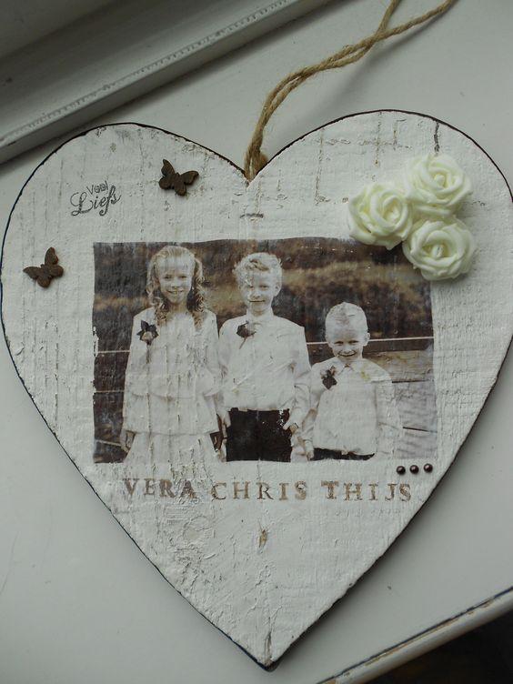 Foto op houtenhart afgedrukt print je foto met een for Action printpapier