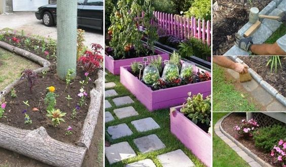 15 Awesome DIY Garden Bed Edging Ideas - http://www.amazinginteriordesign.com/15-awesome-diy-garden-bed-edging-ideas/
