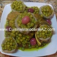 cuisine marocaine Viande aux petits pois et cœurs artichauts