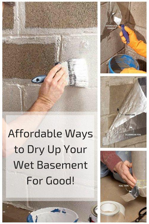 Wet basement and basements on pinterest for Dry basement