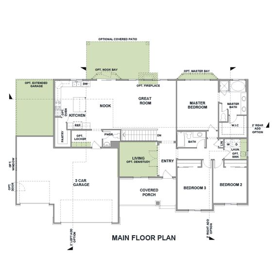 Rambler house plans with basements legendary model 3 for Rambler plans
