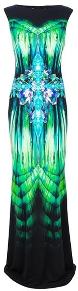 "Cavalli ""SONIC"" Abstract Evening Gown     dressmesweetiedarling"