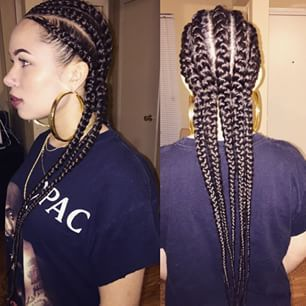 African American Women Hair Hairstyle Straight Back Braids Dope Swag