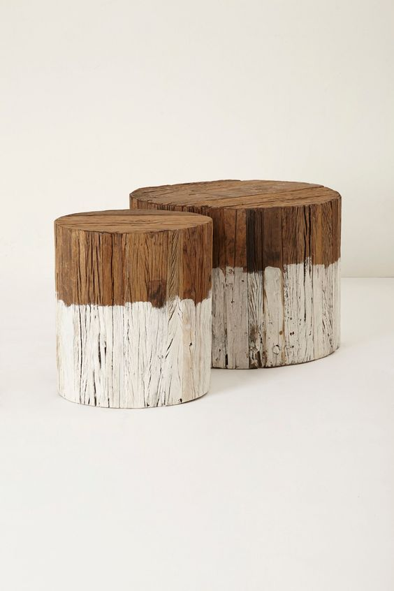 Reclaimed Wood Side Table Stump Table Logs And Side Tables