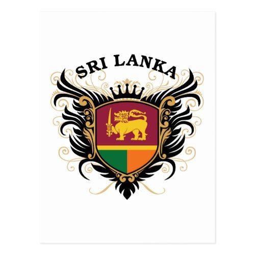 Srilanka Postcard Zazzle Com Sri Lanka Sri Lanka Flag