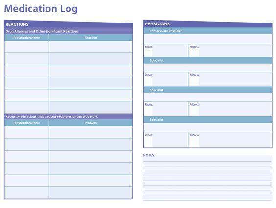 VA Caregiver Medication Log | Caregiver Checklists & Tips