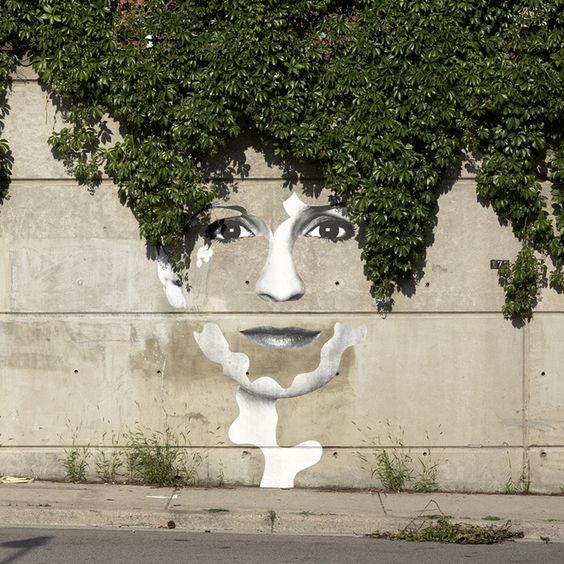 Street Art could be done as a focal point in the garden.