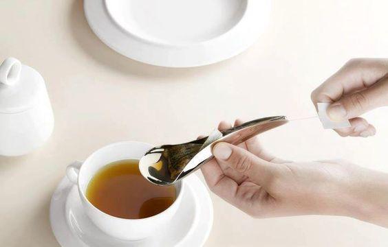 Cuchara estruja bolsas de Té