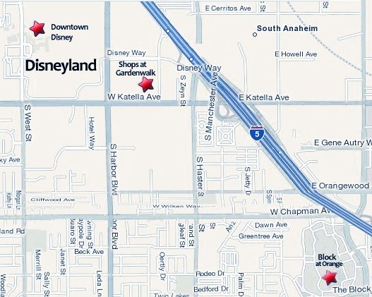 Downtown Disney Anaheim Restaurants Map Anaheim 39 S Gardenwalk Across From Disneyland Disney