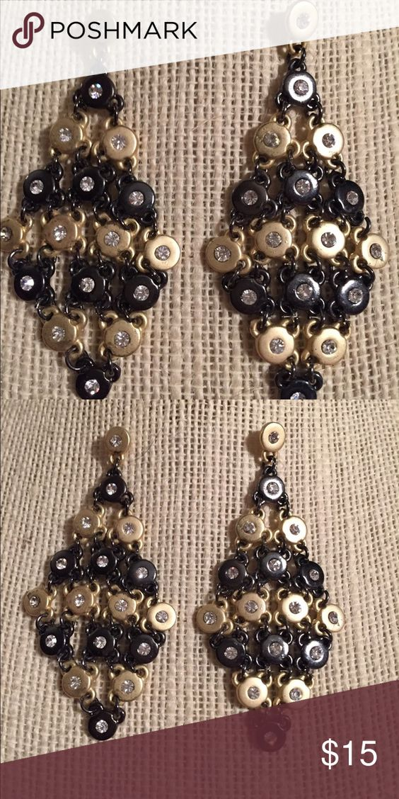 Gorgeous fluidly hanging metallic earrings can be dressy or not None Jewelry Earrings