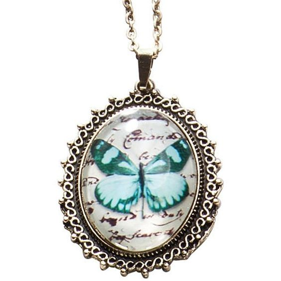 Collana Butterfly ($14) ❤ liked on Polyvore featuring necklaces, jewelry and butterflies