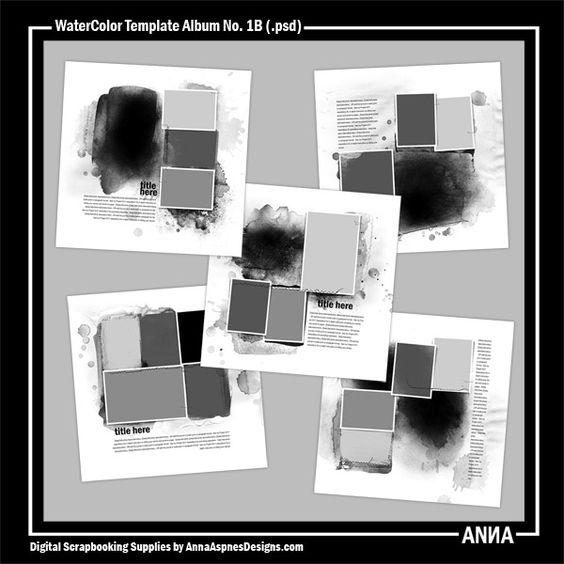 WaterColor Template Album No. 1B